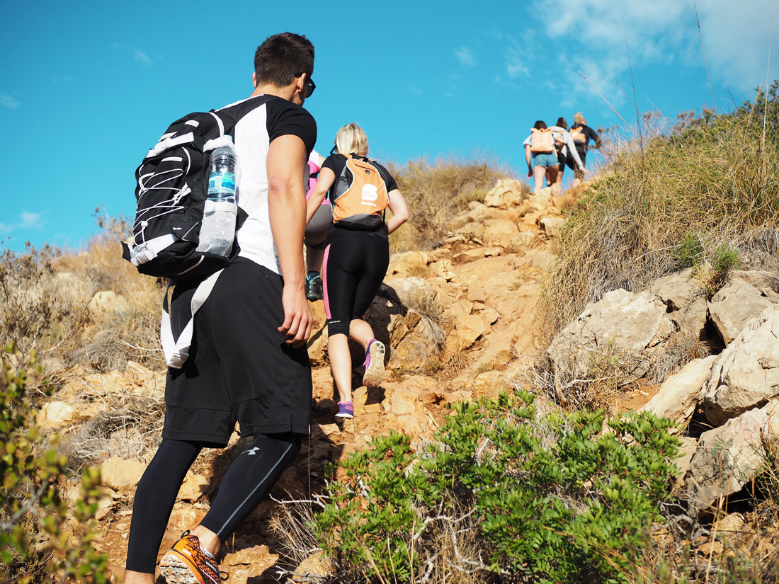 Patrick Krüger in Bendiorm, Sierrra Helada hiking tour