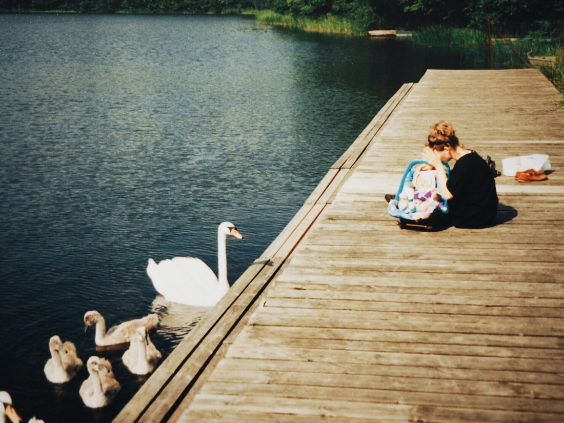 At our lake with my mom -1993